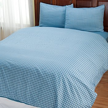 401-961 - Cozelle® ''Gingham'' Microfiber Three-Piece Duvet Set