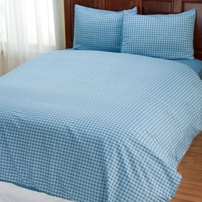 "401-961 - Cozelle® ""Gingham"" Microfiber Three-Piece Duvet Set"