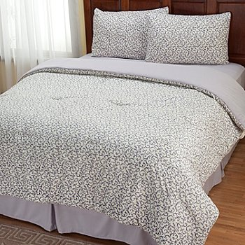 401-963 - Cozelle™ ''Savannah'' Microfiber Four-Piece Comforter Set