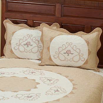 402-021 - North Shore™ Collectible Quilts ''Heather Rose'' Quilted Sham Pair