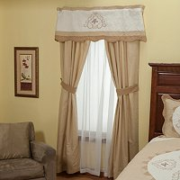 """Heather Rose"" Valance and Drapery Panel Pair"