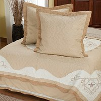 """Heather Rose"" Euro Sham and Bedskirt Set"