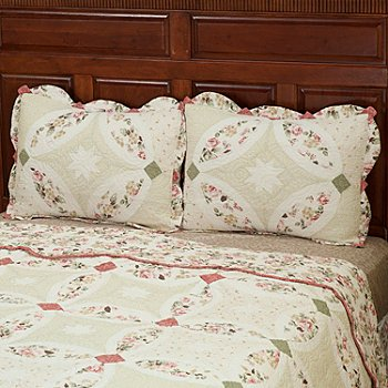 402-027 - North Shore™ Collectible Quilts ''Romance Wedding'' Quilted Sham Pair