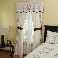"""Gloria"" Valance and Drapery Panel Pair"
