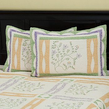 402-083 - North Shore™ Collectible Quilts ''Jasper'' 100% Cotton Quilted Sham Pair