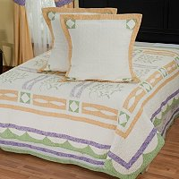 """Jasper"" Euro Sham Pair and Bedskirt Set"