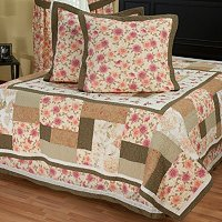 """Marquette"" Euro Sham Pair and Bedskirt Set"