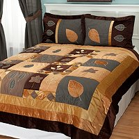 Velvet Leaf 3pc Coverlet Set