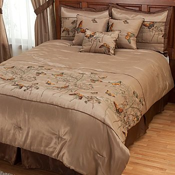 402-101 - North Shore Linens™ ''Golden Butterfly'' Seven-Piece Comforter Set