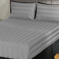 North Shore Linens 500TC Egyptian Cotton Wide Damask Stripe 4pc Sheet Set