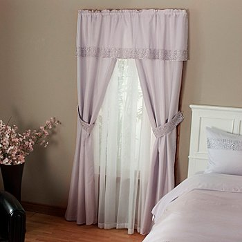 402-110 - Cozelle® Lace Five-Piece Window Set