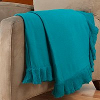 "Cozelle 50""x60"" Ruffle Trim Throw"