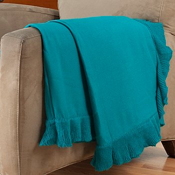 402-112 - Cozelle® 50'' x 60'' Ruffle Trimmed Throw
