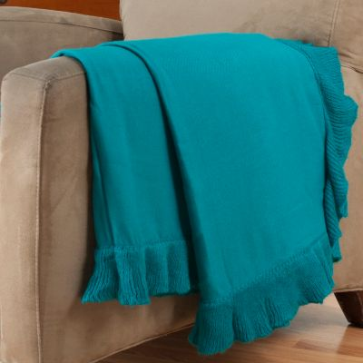 "402-112 - Cozelle® 50"" x 60"" Ruffle Trimmed Throw"