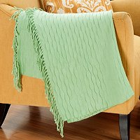 "Cozelle 50""x60"" Honeycomb Knotted Fringe Throw"