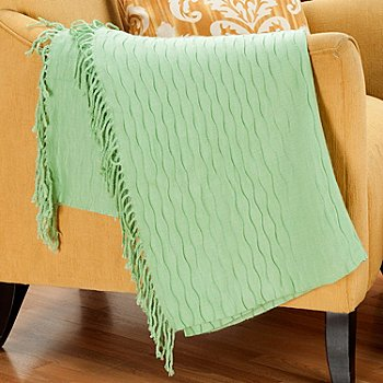402-114 - Cozelle® 50'' x 60'' Honeycomb Knotted Fringe Throw