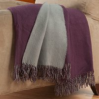 "Cozelle 50""x50"" Reversible Frigned Throw"