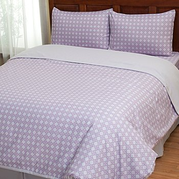 402-130 - Cozelle® ''Lauren'' Microfiber Three-Piece Duvet Set