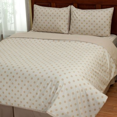"402-136 - Cozelle® ""Dot"" Microfiber Three-Piece Duvet Set"