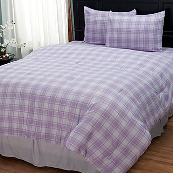 402-141 - Cozelle® ''Check'' Microfiber Four-Piece Comforter Set
