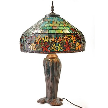 402-541 - Tiffany Style 30.5'' Hampstead Stained Glass Table Lamp with Mosaic Base