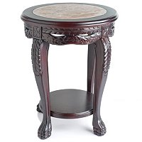 CLAW AND FEATHER ACCENT TABLE