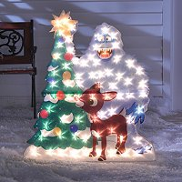 Rudolph and Bumbles Lawn Dec http://reviews.shopnbc.com/3339/403-154/reviews.htm