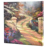 THOMAS KINKADE SPRING GATE COLLECTION GALLERY WRAP CANVAS 20 X 20