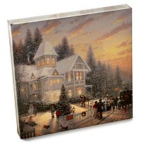 THOMAS KINKADE HOLIDAY COLLECTION GALLERY WRAP CANVAS 14 X 14