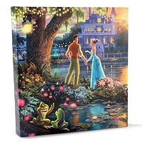 "TV THOMAS KINKADE DISNEY DREAMS COLLECTION GALLERY WRAPPED CANVAS 14"" X 14"""