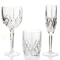 MARQUIS BY WATERFORD BROOKSIDE SET OF 24 CRYSTAL DRINKWARE SET