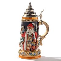 KING-WERK ALPINE SANTA WITH SILENT NIGHT CHAPEL STEIN