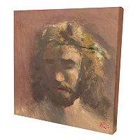 "THOMAS KINKADE ""PRINCE OF PEACE"" GALLERY WRAPPED CANVAS 14""X14"""