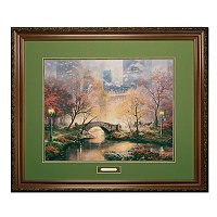 "THOMAS KINKADE ""CENTRAL PARK IN THE FALL"" FRAMED LIMITED EDITION PAPER 18""X27"""