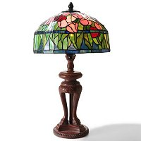 "20.5"" TULIPS STAINED GLASS TABLE LAMP"