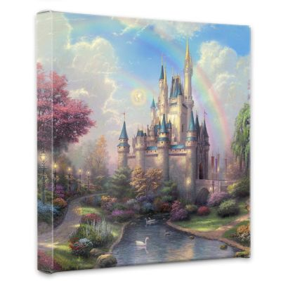 "405-011 - Thomas Kinkade ""New Day At Cinderella's Castle"" Gallery Wrapped Canvas"