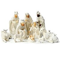 PORCELAIN 11PC NATIVITY SET