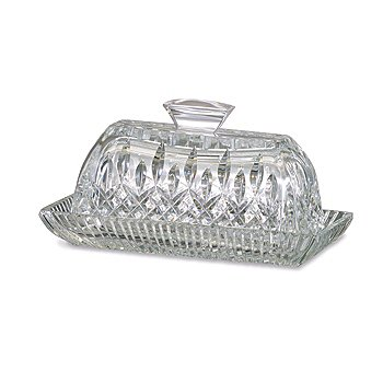 405-174 - Waterford® Crystal Lismore 3.75'' Covered Butter Dish - Signed by Jorge Perez