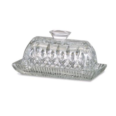 "405-174 - Waterford® Crystal Lismore 3.75"" Covered Butter Dish - Signed by Jorge Perez"