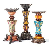 KENDALL SET OF THREE CANDLE HOLDERS