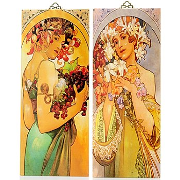 405-577 - Set of Two Aroma of Spring Reversible Wall Panels