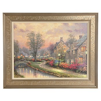 405-639 - Thomas Kinkade ''Lamplight Lane'' Textured Print