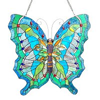 OCEAN BUTTERFLY GLASS PANEL