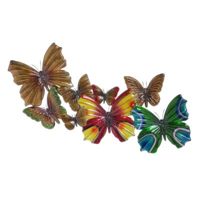 "405-729 - Butterfly 21.5"" x 47"" LED-Lit Wall Plaque"