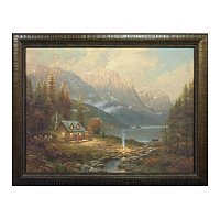 "Thomas Kinkade ""Beginning of a Perfect Day"" Textured Print"