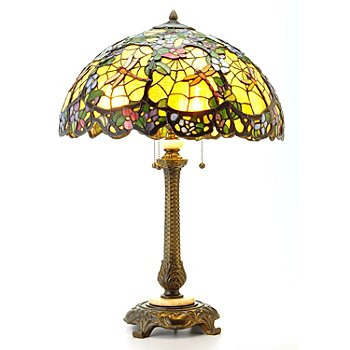405-961 - Tiffany Style 30'' Dragonfly Web Stained Glass Table Lamp