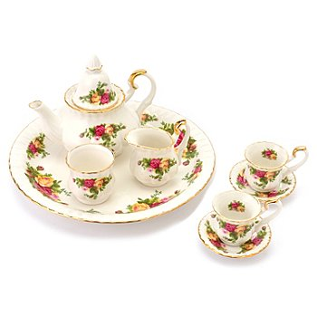 405-975 - Royal Albert® Old Country Rose Le Petite Nine-Piece Miniature Tea Set