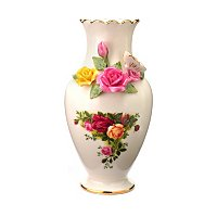 Royal Albert Bouquet Vase - Signed by Michael Doulton