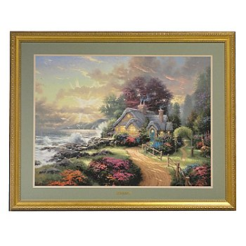 406-062 - Thomas Kinkade ''A New Day Dawning'' Framed Print