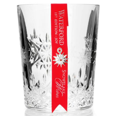 "406-069 - Waterford® Crystal ""Snowflake Wishes"" 12 oz Double Old Fashioned Glass"